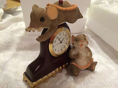 """Charming Tails """" SHARING TIME WITH YOU IS FUN"""" SIGNED BY DEAN GRIFF CLOCK"""