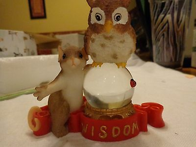 """Charming Tails """"Our Future Looks Wonderful""""  Fitz and Floyd  SIGNED Owl,"""