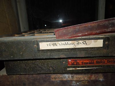 Letterpress Type Lot! 12 PT Wedding Text! Great Condition! #16