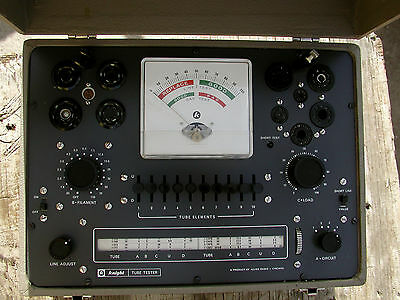 Excellent KNIGHT 600A TUBE TESTER Working MANUAL & BOOKS Radio Amp