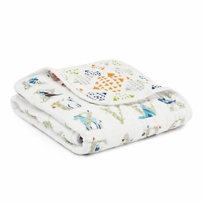 Aden and Anais Baby Stroller Blanket Cotton Muslin Pram New Gift  Paper Tales