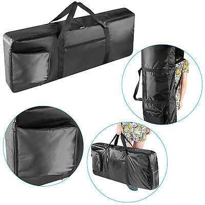 Neewer Black Waterproof 76-Key Keyboard Bag with Extra Pockets f Electric Piano