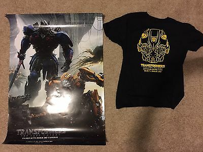 Transformers The Last Knight IMAX Movie Poster and Large Bumblebee T-Shirt