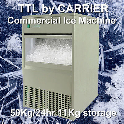 TTL Carrier Commercial Undercounter Ice Cube Maker Machine 50Kg/24hrs
