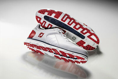 New FootJoy Pro SL Limited Edition US Open Golf Shoes Red/White/Blue -- 10.5 D