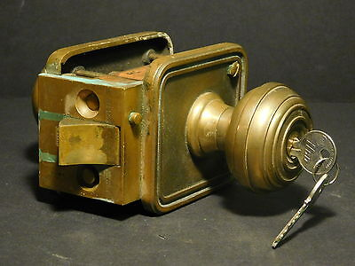 Architectural Salvage Bronze Heavy Duty Yale & Towne Mono-Lock with 2 New Keys