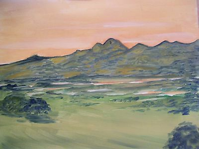 original oil painting by artist  Tanegrine Sunset  16x20