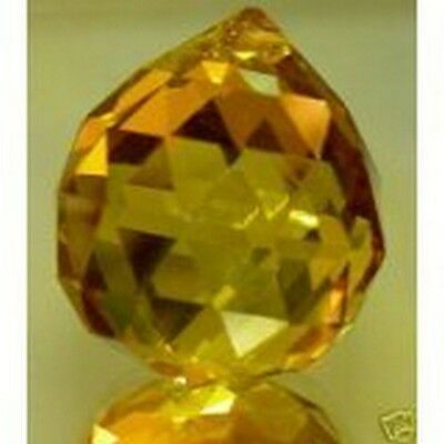 Chinese Feng Shui Amber Crystal Ball Prisms 12371 S-3302 AU