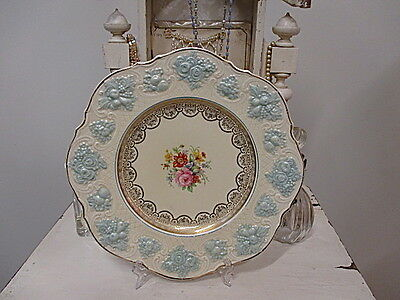 Absolutely EXQUISITE Vintage Ducal Ware Plate Florals & Gilt  Just stunning