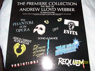 "The Premiere Collection . The Best of . Andrew LLoyd Webber .12"" 33RPM LP Record"