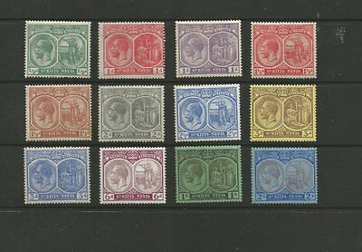 St.kitts-Nevis 1921 M/mint Part Stamp Set - 12 Stamps Cat £50 +