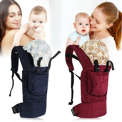 Baby Sling Stretchy Adjustable Wrap Carrier Birth to 3YRS Breastfeeding Pouch AU