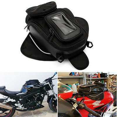 Magnetic Motorcycle Oil Fuel Tank Bag Black Luggage Pouch Waterproof For Ducati