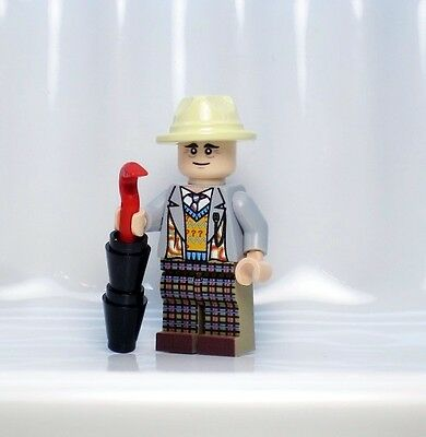 A1113 Lego CUSTOM PRINTED Dimensions INSPIRED SEVENTH DOCTOR WHO MINIFIG 7TH DR