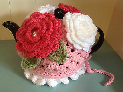 High Tea -4 Cup- Crocheted Teapot Cozy NEW