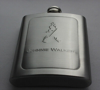 7oz Stainless Steel Portable Hip Flask Flagon Wine Alcohol Whiske Johnnie Walkep