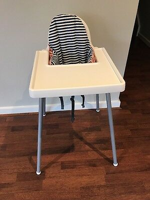 Ikea High Chair White With Pillow And Straps Pick Up Hampton Vic