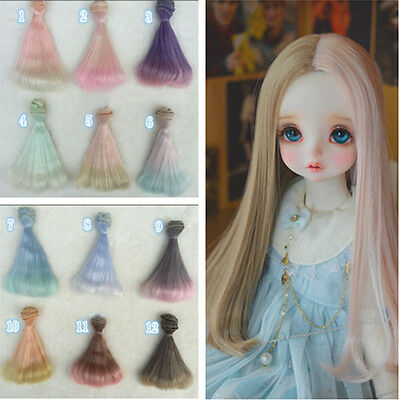 DIY Doll Wig High-temperature Wire Hair for 1/3 1/4 1/6 BJD SD Barbie 15cm