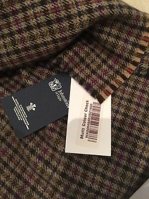 Johnstons of Elgin 100% Cashmere Multi Colour Check Scarf BNWT