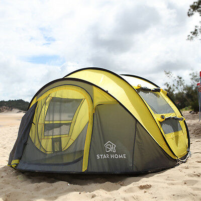 Large throw tent!outdoor 3-4persons automatic speed open throwing pop up tent