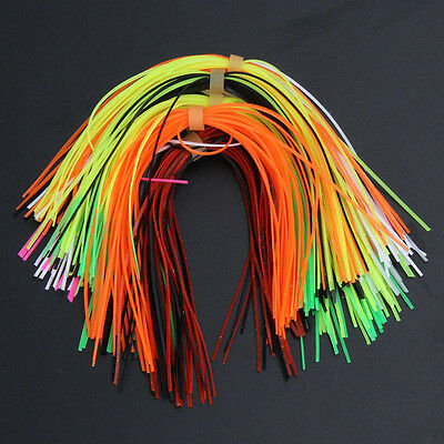 50Pcs Colorful Silicone Rubber Jig Lures Squid Skirts Fly Fishing Line Materia