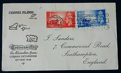 1948 Channel Islands The Liberation From German Occupation FDC Nursing Slogan