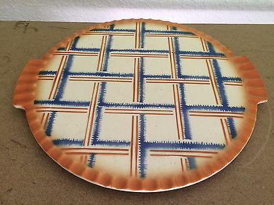 "12"" Cake plate german ART DECO Bauhaus 1930ies  ceramic platter abstract decor"
