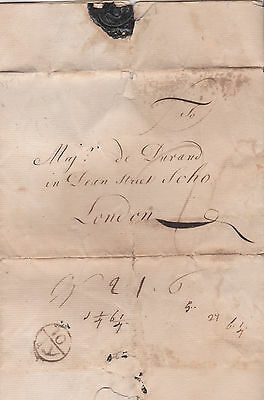 1751 Soho London Bishopmark On Pre-Stamp Letter From Chertsey Surrey In French