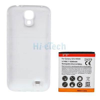6200mah Extended Battery + Back Cover Replacement for Samsung Galaxy S4 i9500