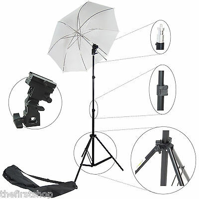 Kit DynaSun W968S Cavalletto Stativo, Adattatore Flash, Ombrello per Studio Foto