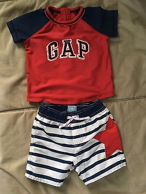 Baby Gap Swimsuit Toddler Boy 12-18M July 4th Design Pre-owned