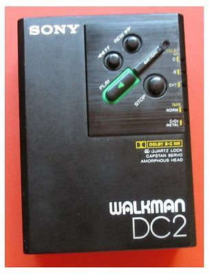 Walkman WM-DC2 SONY Stereo Cassette Players  Is Correct + Tape Demonstration