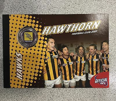 2007 Prestige booklet With Stamps And Medallion Hawthorn Hawks AFL FOOTBALL