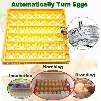 220V 36 Egg Poultry Chicken Incubator Automatic Turner Tray Turning With Motor