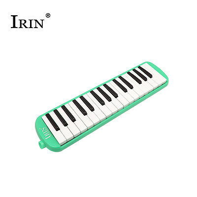New 32 Piano Keys Green Melodica Musical Instrument for Beginners + Carrying Bag