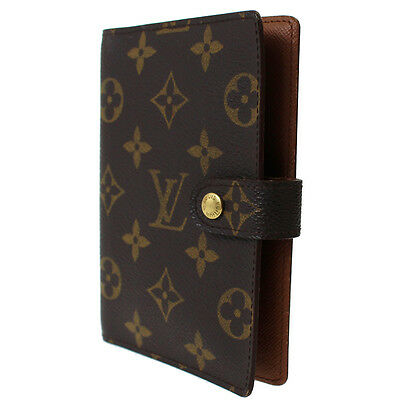 LOUIS VUITTON Agenda PM Day Planner Cover Monogram R20005 Vintage Auth #8732 I