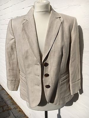 Ladies Per Una Pure Linen Jacket Size 12 New With Tags
