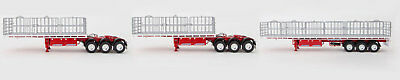 New Drake Maxitrans Freighter B-Triple Road Train Trailer White & Red 1:50