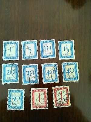 11 used stamps of netherlands indie
