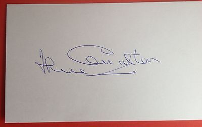 Jack Charlton Autograph Signed 5X3 England 1966 World Cup Card Leeds United
