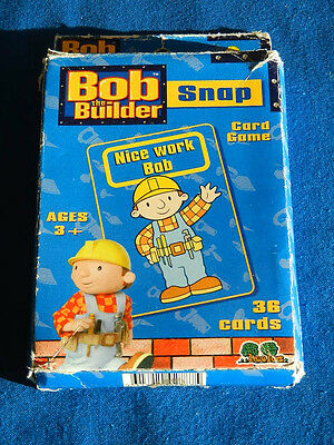 BOB the BUILDER SNAP CARD GAME Treetoys 2001