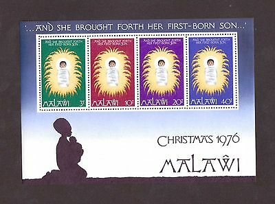 Malawi # 298a in Mint Never Hinged Condition ( 1976 Christmas Souvenir Sheet)