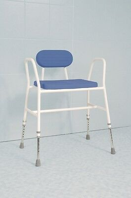 Extra Wide Height Adjustable Heavy Duty Bariatric Perching Stool Shower Chair