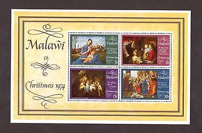 Malawi # 232a in Mint Never Hinged Condition ( 1974 Christmas Souvenir Sheet)