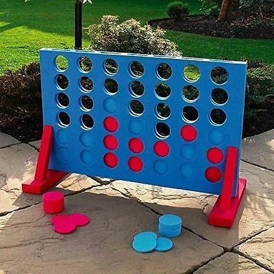 Giant Connect Four 4 In A Row Garden Outdoor Game Kids Adults Family Xmas Fun
