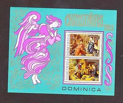 Dominica # 380a Mint Never Hinged Souvenir Sheet (Christmas 1973)