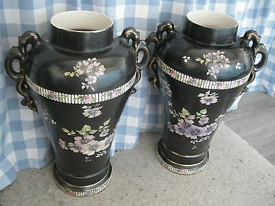 A Pair Of Large Vintage Vases .. Probably Victorian