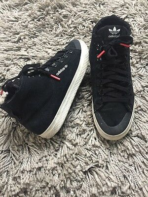 Women's Size 5.5 Adidas High Top Black Trainers