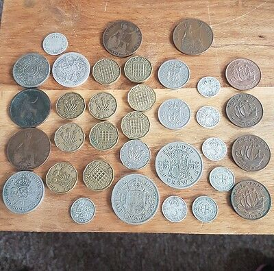 job lot of old british coins