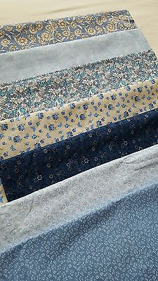 Bundle of 7 cotton fabric patchwork craft ( nearly 9 meters )